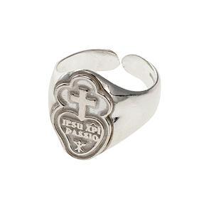 Anello episcopale argento 800 dei Passionisti s1