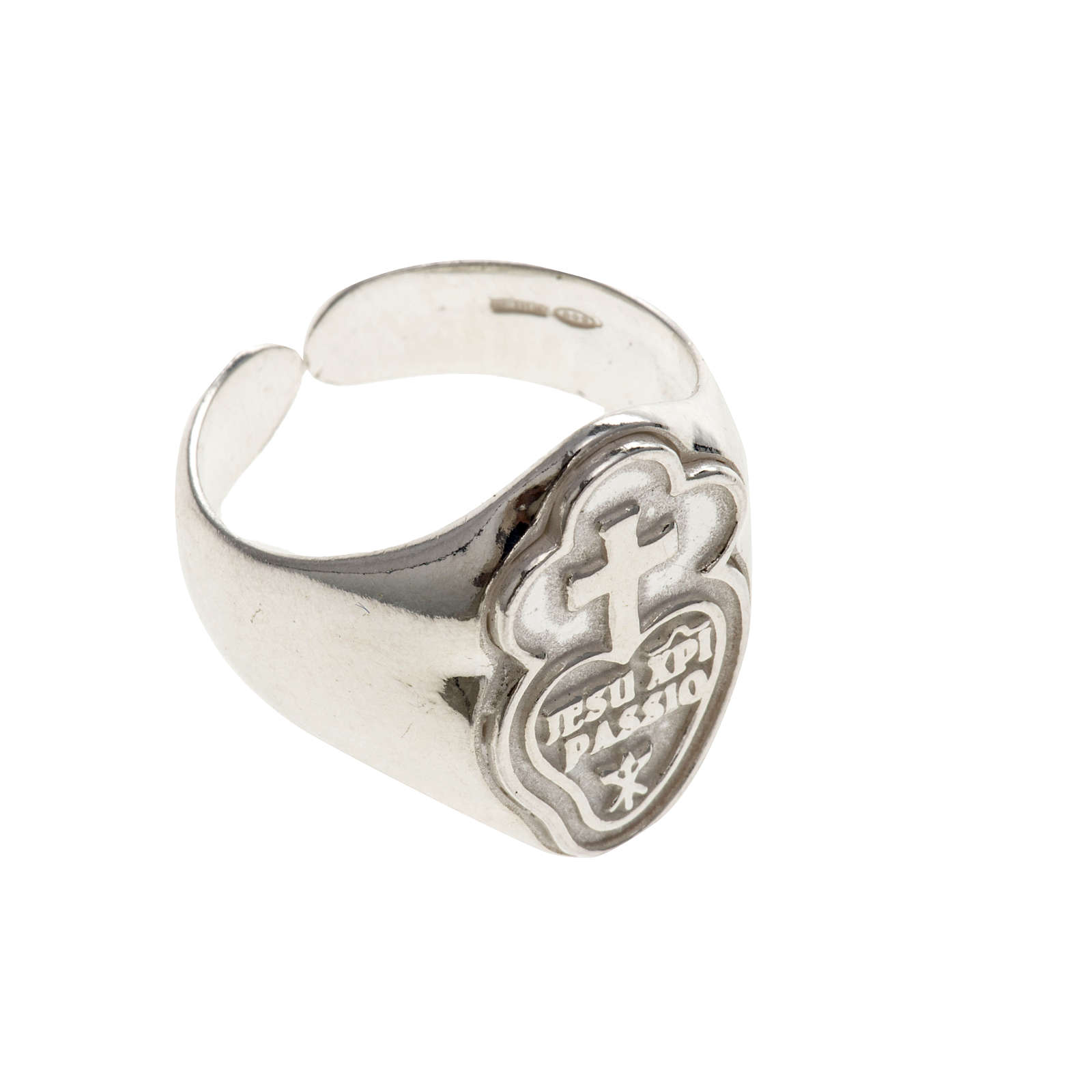 Bishop's ring made of 800 silver, Passionists 3