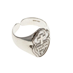 Bishop's ring made of 800 silver, Passionists s3