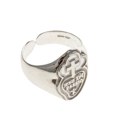 Bishop's ring made of sterling silver, Passionists 3