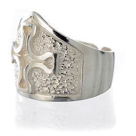 Pierścień episkopalny srebro 800 krzyż posrebrzany s7