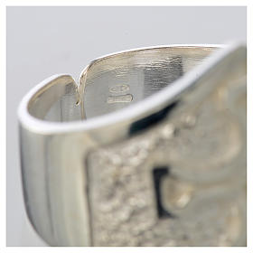 Pierścień episkopalny srebro 800 krzyż posrebrzany s4