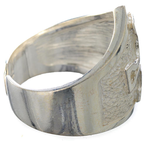 Bishop's ring in 800 silver with silver cross 6
