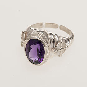Bishop's ring made of 800 silver with amethyst s3