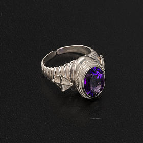 Bishop's ring made of 800 silver with amethyst s6
