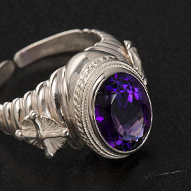 Bishop's ring made of 800 silver with amethyst s8