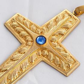 Pectoral cross made of sterling silver, 18Kt gold, rubies s6