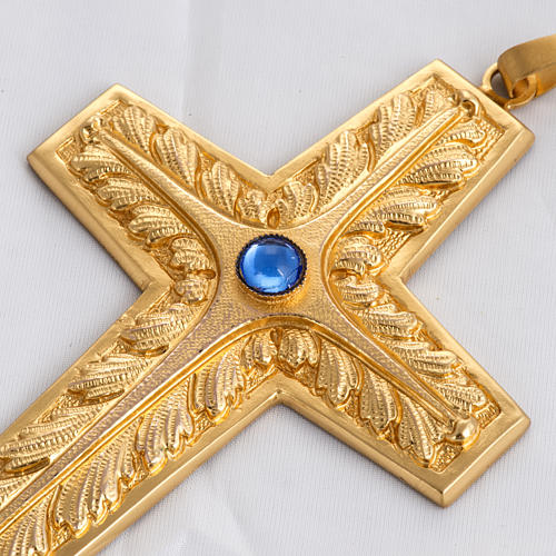 Pectoral cross made of sterling silver, 18Kt gold, rubies 6