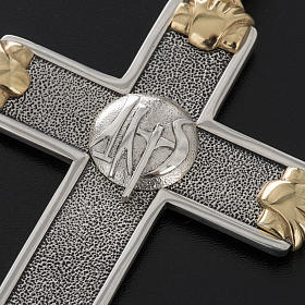 Pectoral cross in sterling silver, white and gold, Year of Faith s8