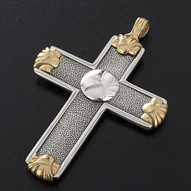 Pectoral cross in sterling silver, white and gold, Year of Faith s13