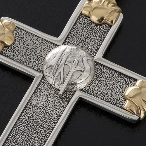 Pectoral cross in sterling silver, white and gold, Year of Faith 9