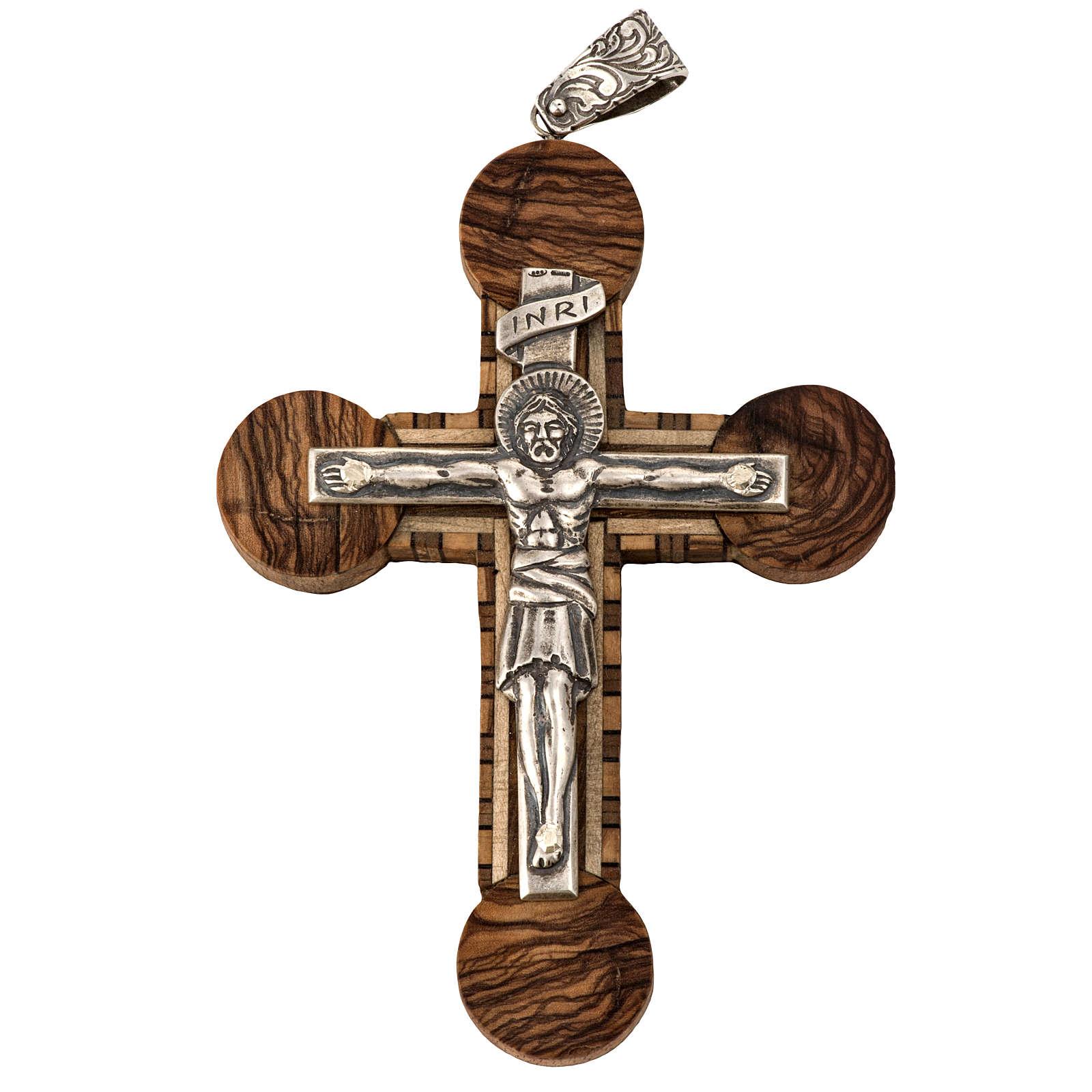 Anello vescovile regolabile XP alfa omega argento 925 3