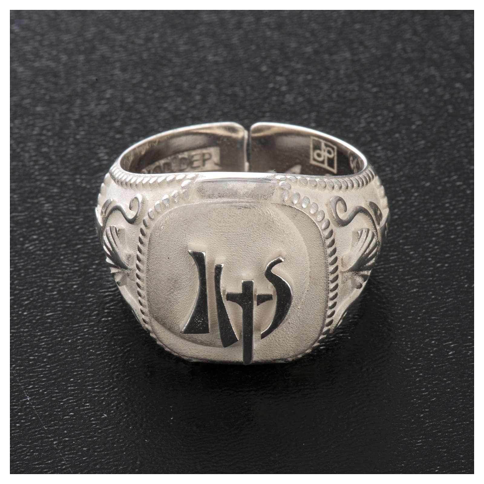 Bishop's ring, adjustable in sterling silver,