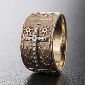 Anillo obispo oro rosado 9Kt s4