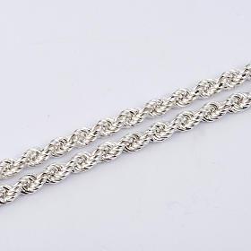 Cadena para cruz pectoral plata de ley blanca s2