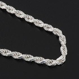 Cadena para cruz pectoral plata de ley blanca s4