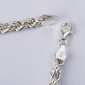 Cadena para cruz pectoral plata de ley blanca s5