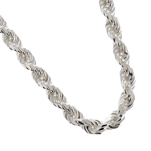 Cadena para cruz pectoral plata de ley blanca 1