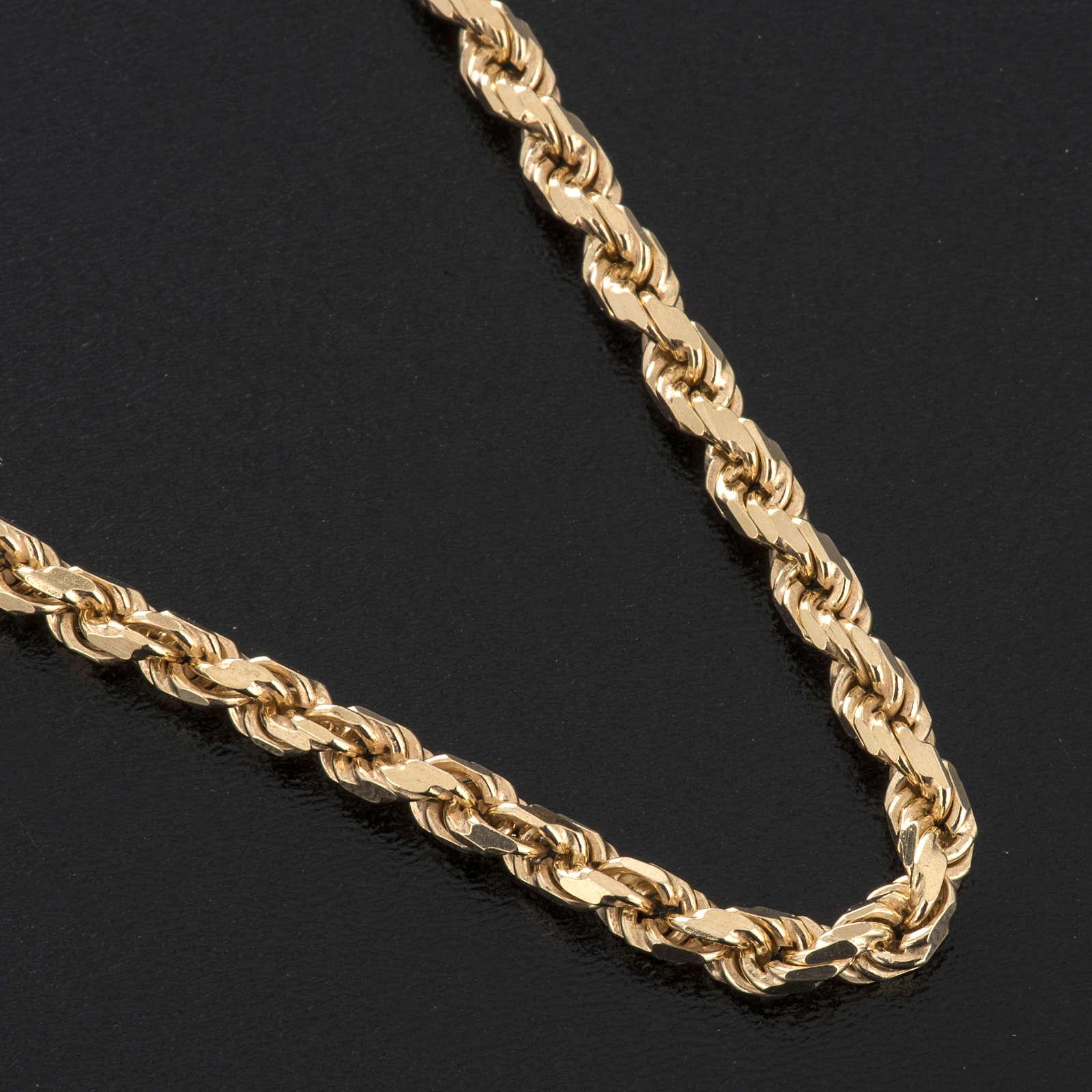 Cadena para cruz pectoral plata 925 dorada 3