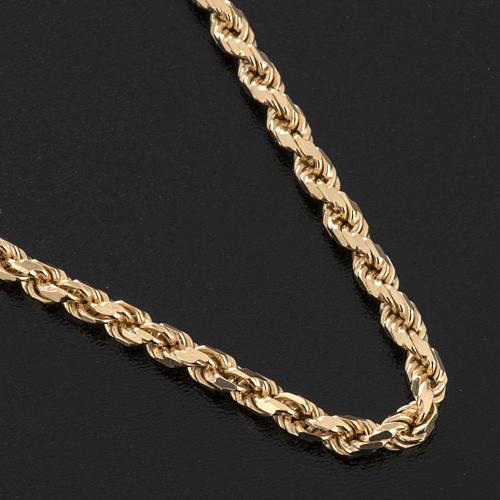 Cadena para cruz pectoral plata 925 dorada 2