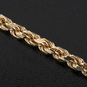 Collier pour croix pectorale en argent 925 doré s3