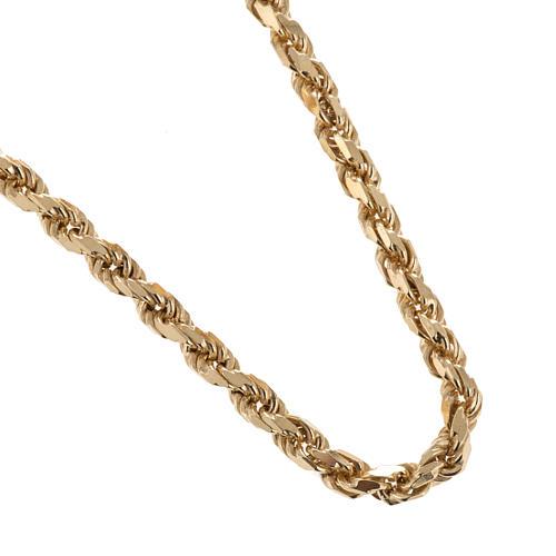 Corrente para cruz peitoral prata 925 dourada 1