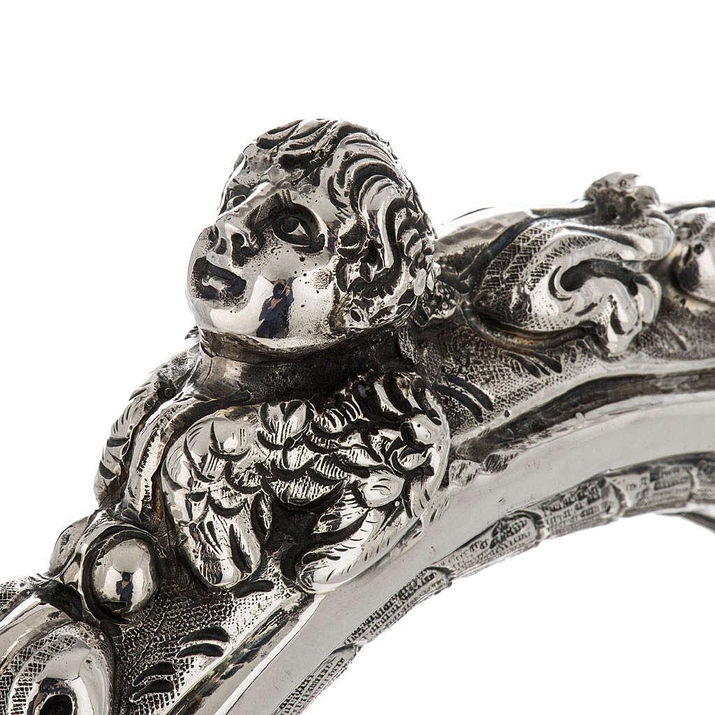 Pastorale in argento 966/1000 e metallo mod. decori 3