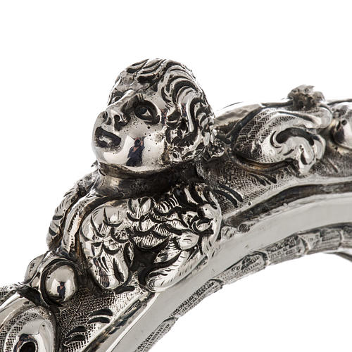 Báculo em prata 966/1000 e metal mod. decoro 5