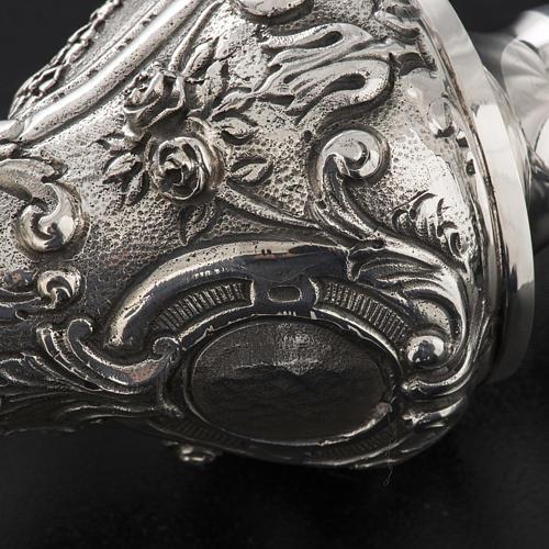 Báculo em prata 966/1000 e metal mod. decoro 9