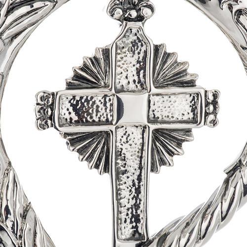 Crozier in 966 silver, electroforming, cross model 4