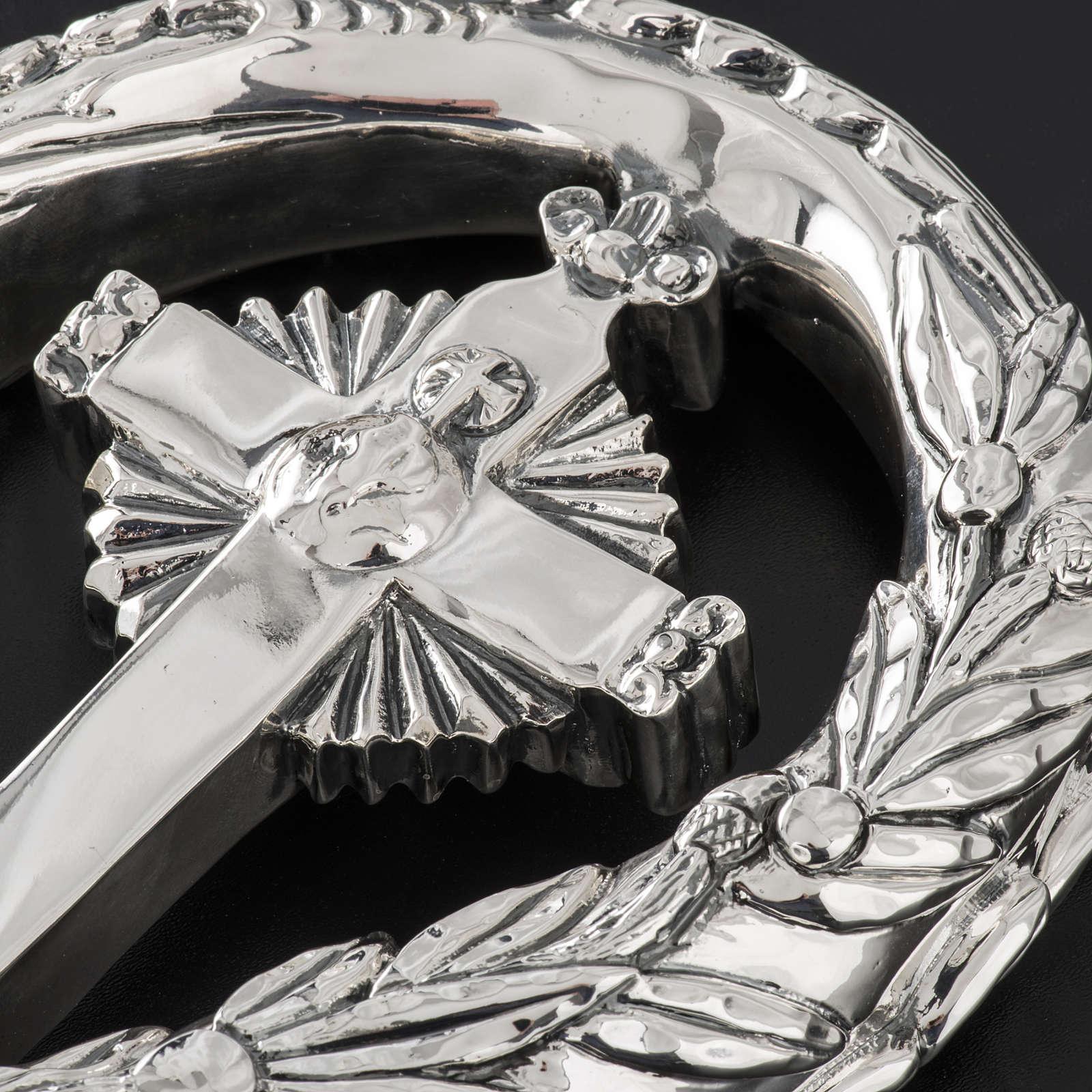 Pastorale in argento 966/1000 e metallo mod. croce 3