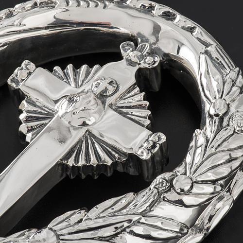 Pastorale in argento 966/1000 e metallo mod. croce 6