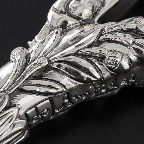 Pastorale in argento 966/1000 e metallo mod. croce 7