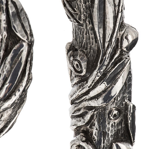Crozier in 966 silver, electroforming, olive tree model 7