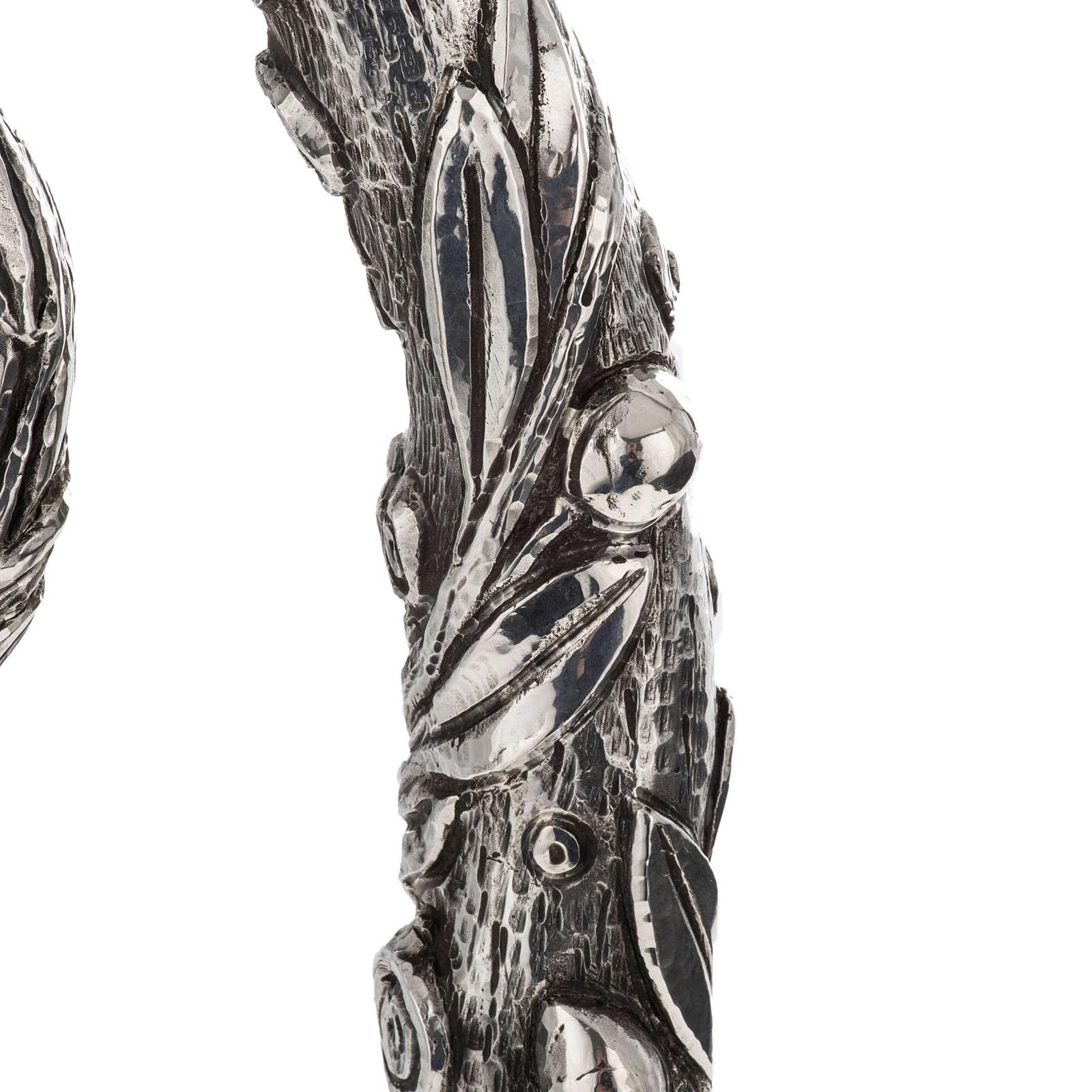 Báculo en plata 966/1000 en galvanoplastia mod. Olivo 3
