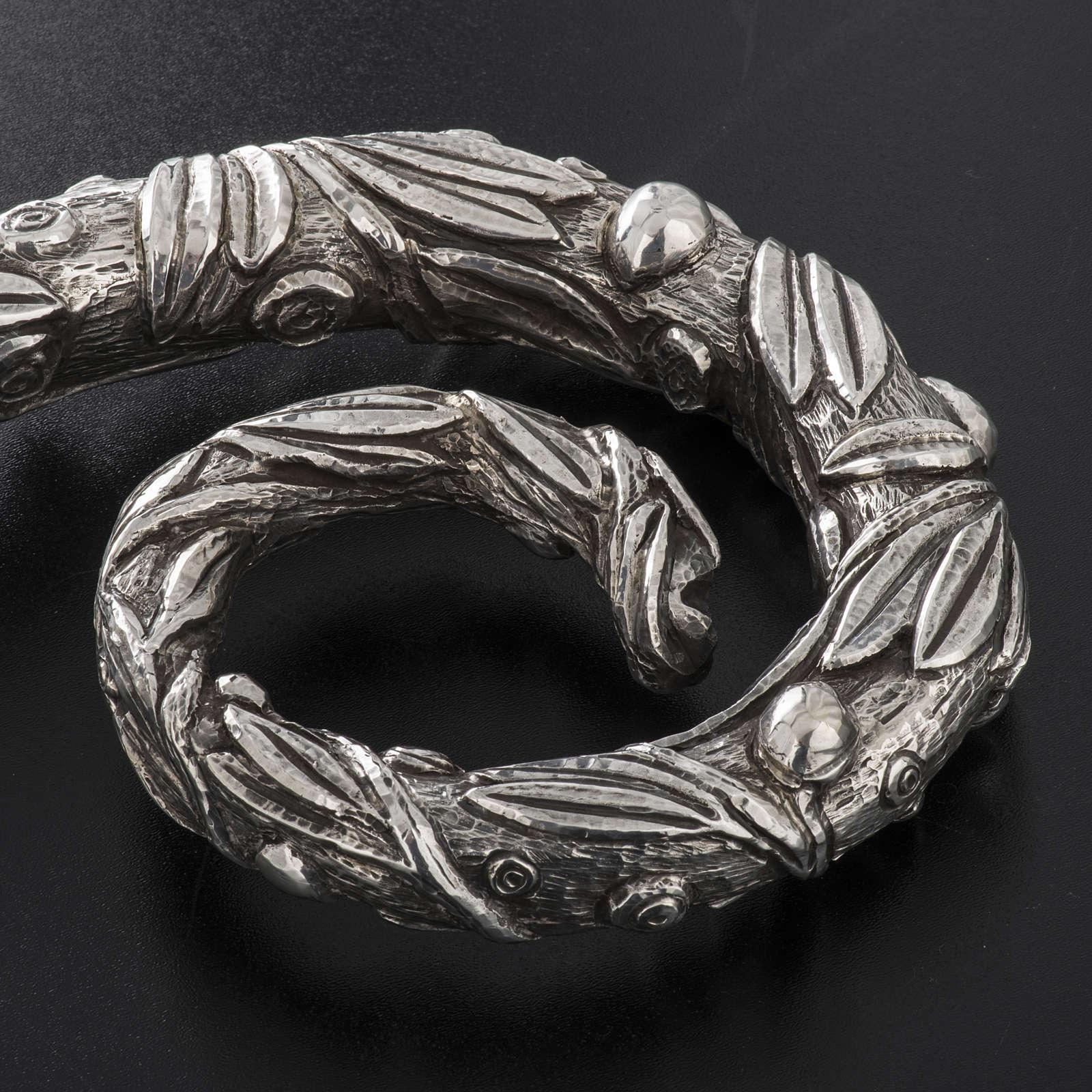 Báculo em prata 966/1000 e metal mod. oliveira 3