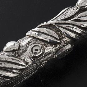 Báculo em prata 966/1000 e metal mod. oliveira s9