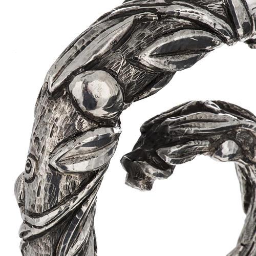 Báculo em prata 966/1000 e metal mod. oliveira 6