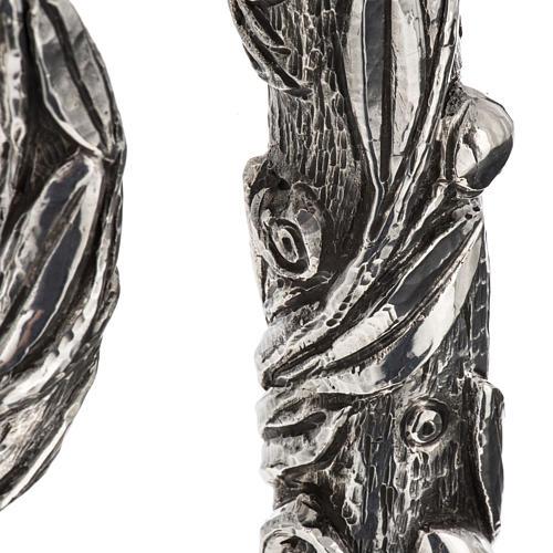 Báculo em prata 966/1000 e metal mod. oliveira 7