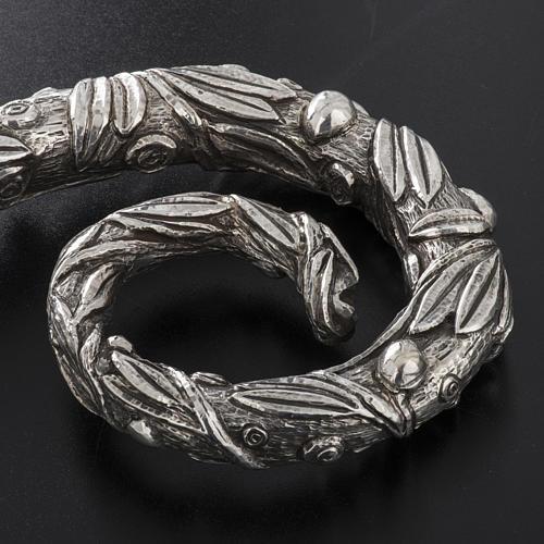 Báculo em prata 966/1000 e metal mod. oliveira 8