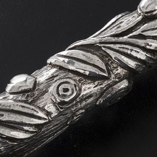 Báculo em prata 966/1000 e metal mod. oliveira 9
