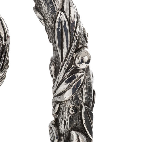 Crozier in 966 silver, electroforming, olive tree model 4