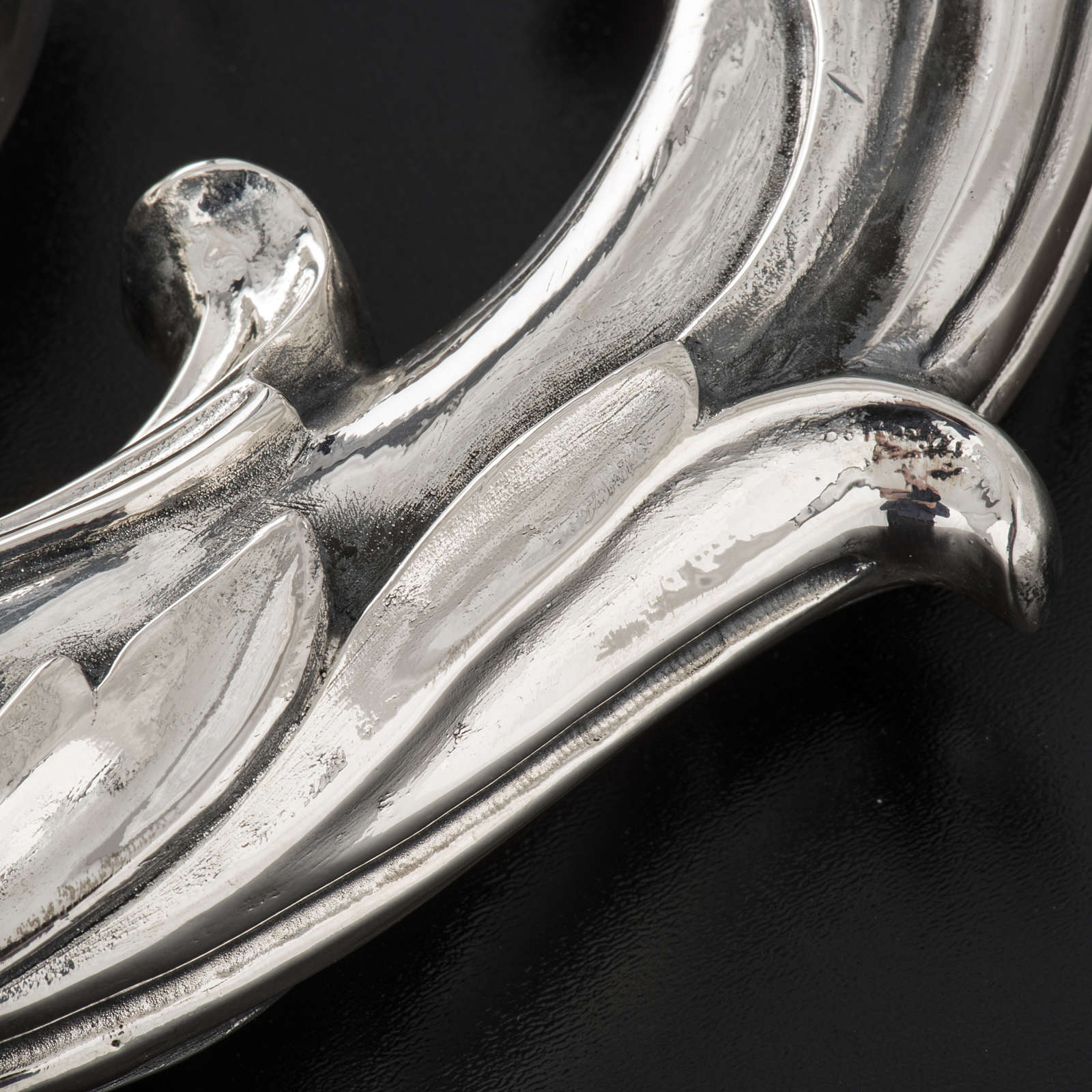 Crozier in 966 silver, electroforming, leaves model 3