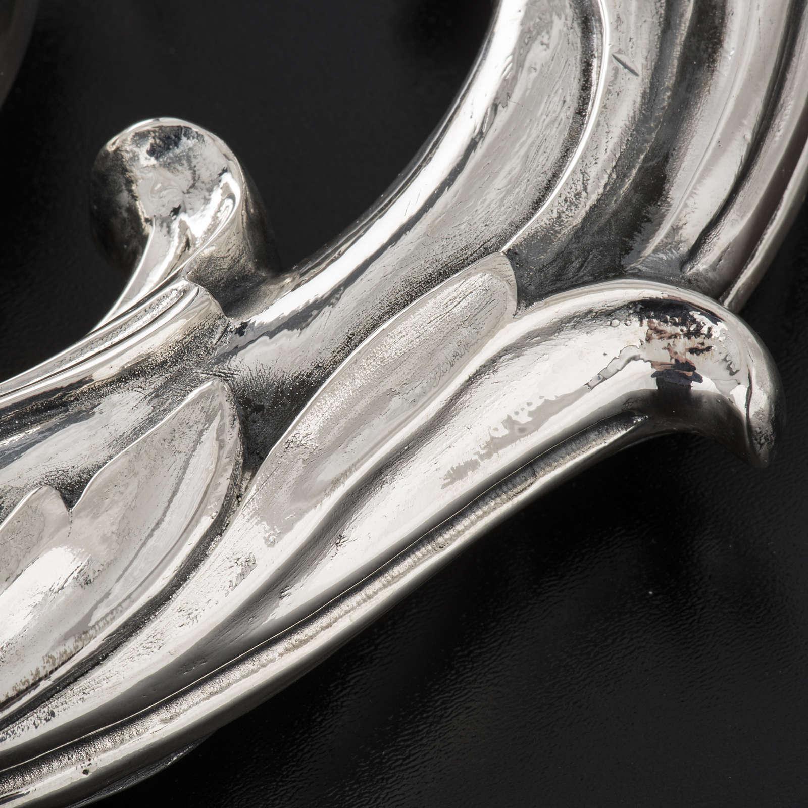 Báculo en plata 966/1000 en galvanoplastia mod. Hojas 3