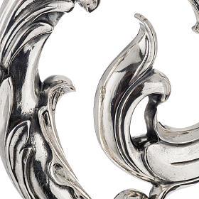 Báculo en plata 966/1000 en galvanoplastia mod. Hojas s2