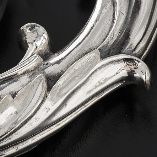 Báculo en plata 966/1000 en galvanoplastia mod. Hojas 8