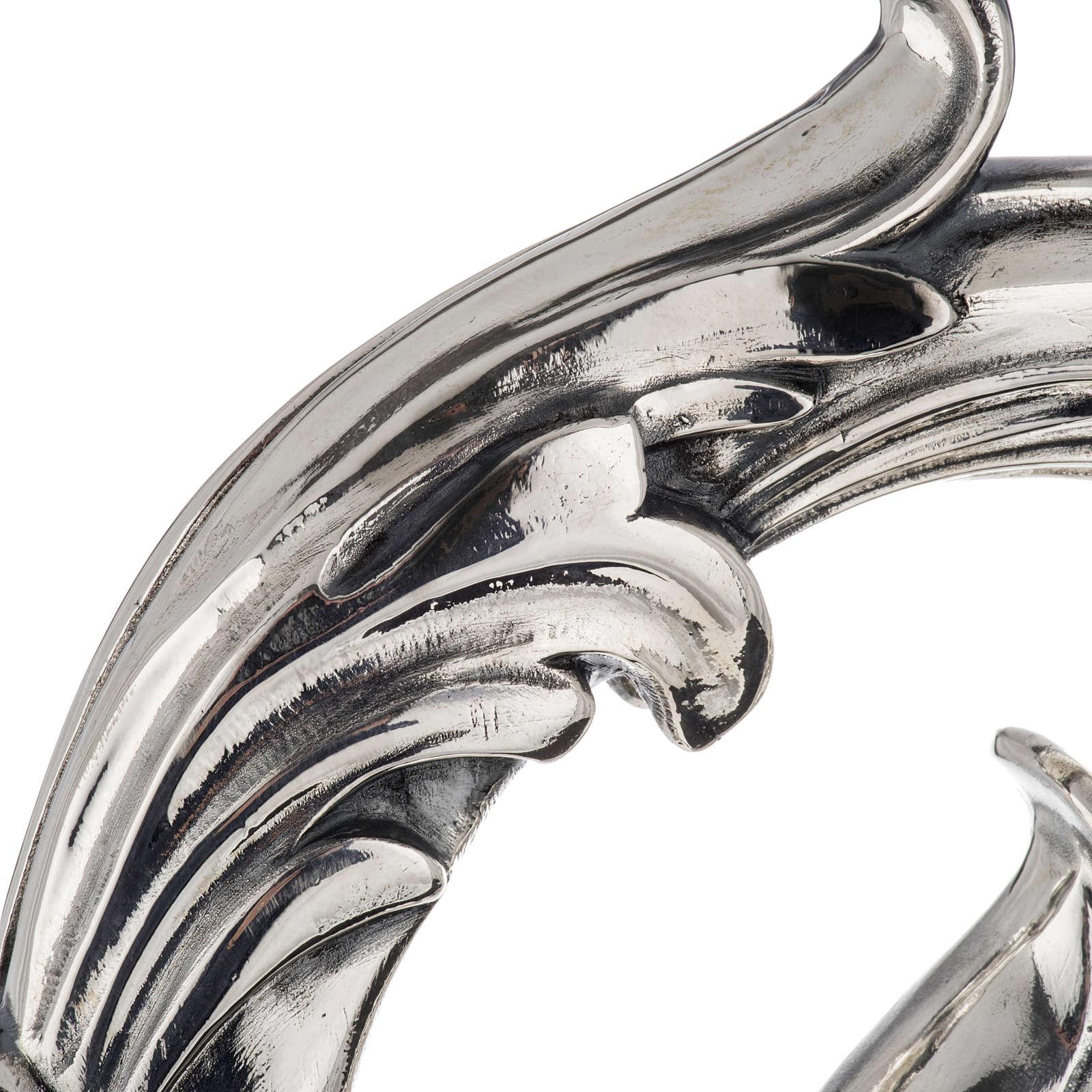 Báculo em prata 966/1000 e metal mod. folhas 3