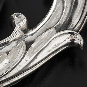 Báculo em prata 966/1000 e metal mod. folhas s8