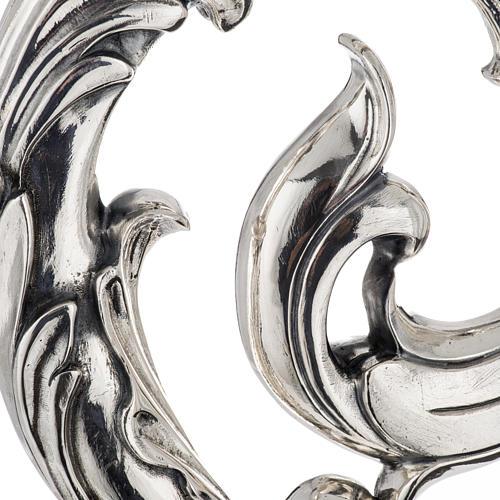 Crozier in 966 silver, electroforming, leaves model 2