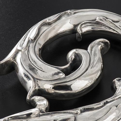 Crozier in 966 silver, electroforming, leaves model 6